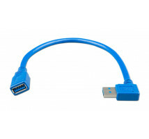USB extension kabel 0,3m one side right angle