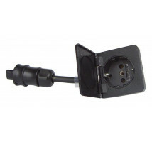 Ratio schuko outlet 1-weg FLUSH zwart