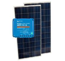 Solar pakket 220 Wp MPPT 75|15 + 2x 110 Wp paneel